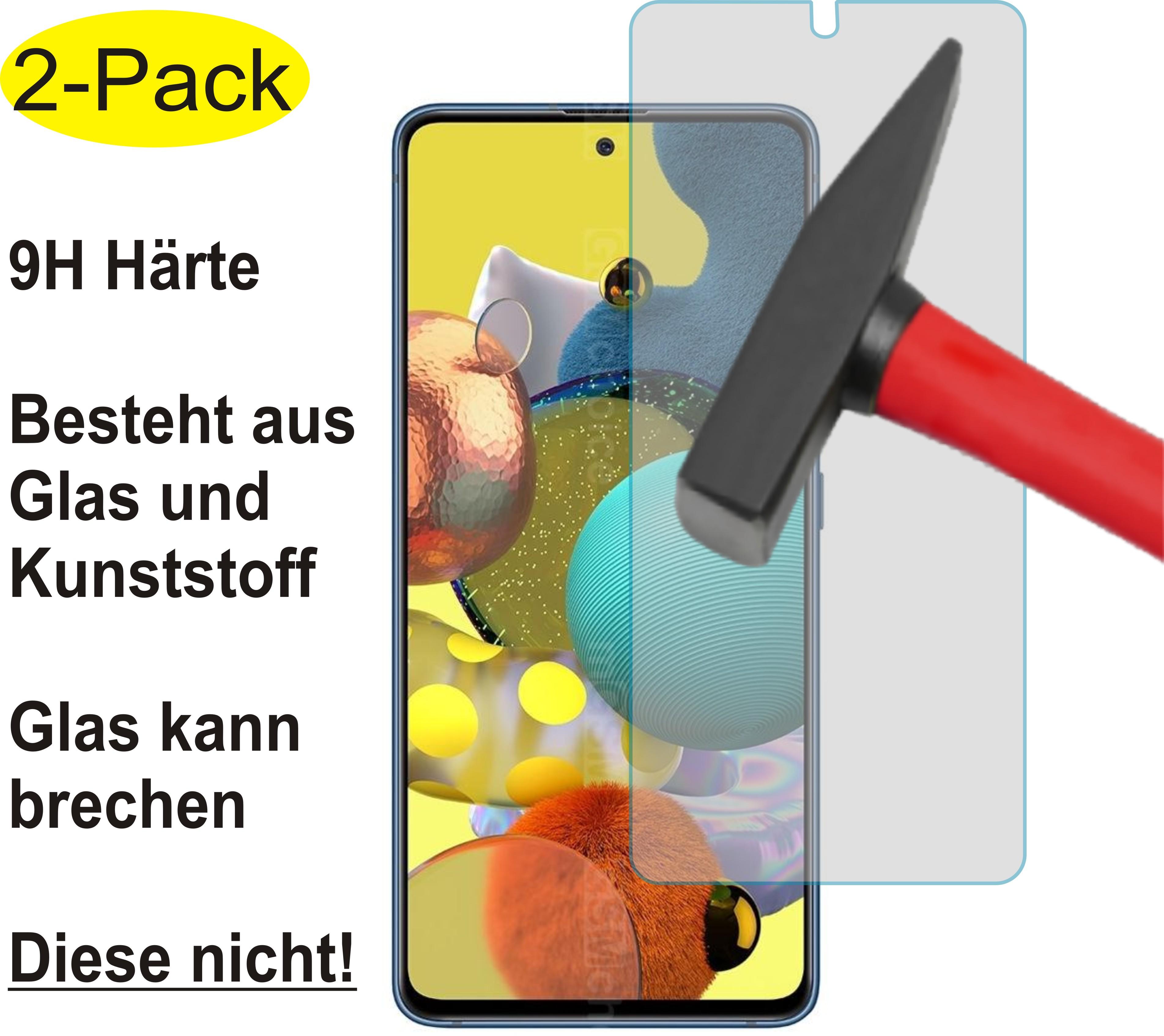2x EnWi 9H Displayschutzfolie KLAR Panzerfolie für Samsung Galaxy A51 5G UW
